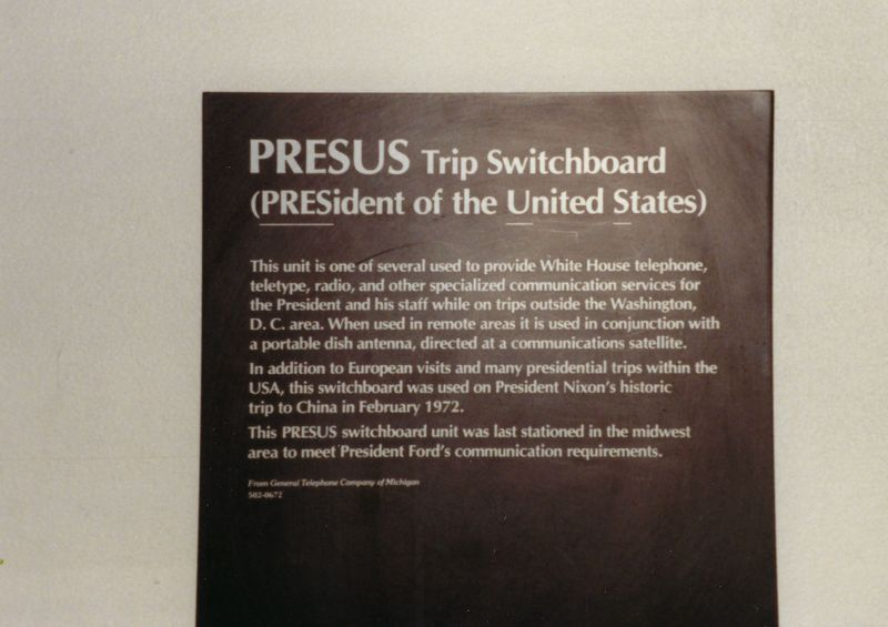 WHCA Portable Switch at Smithsonian Museum June 1988 Photo by Tim Tyler  1